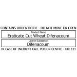 Bait Station Warning Label - Eraticate