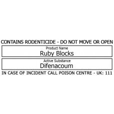 Bait Station Warning Label - Ruby