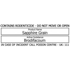 Bait Station Warning Label - Sapphire
