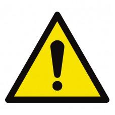 Hazard Warning Sign Adhesive Vinyl