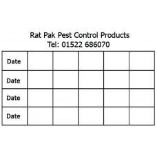 Mouse Bait Station Inspection Label