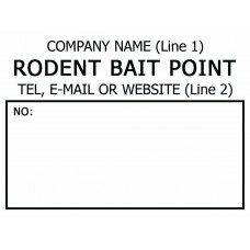Customised Rodent Bait Point Label