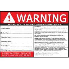 Public Area Anticoagulant Warning Label